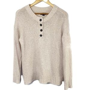 AEO Jegging Fit Sweater Ivory Small Buttons